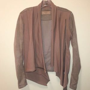 Blank NYC Drape Front Suede Jacket